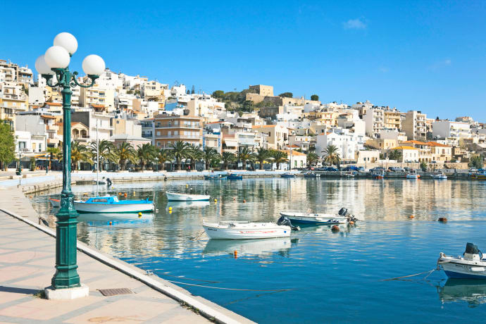 Hamnpromenaden i Sitia på Kreta